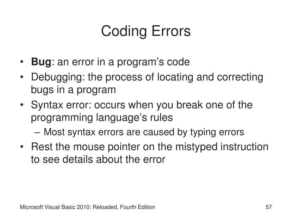 Coding Errors