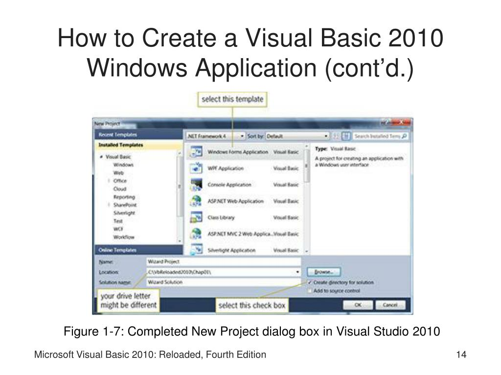 How to Create a Visual Basic 2010 Windows Application (cont'd.)