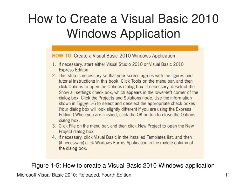 How to Create a Visual Basic 2010 Windows Application