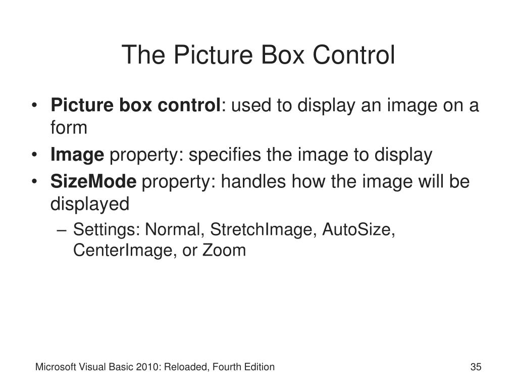 The Picture Box Control