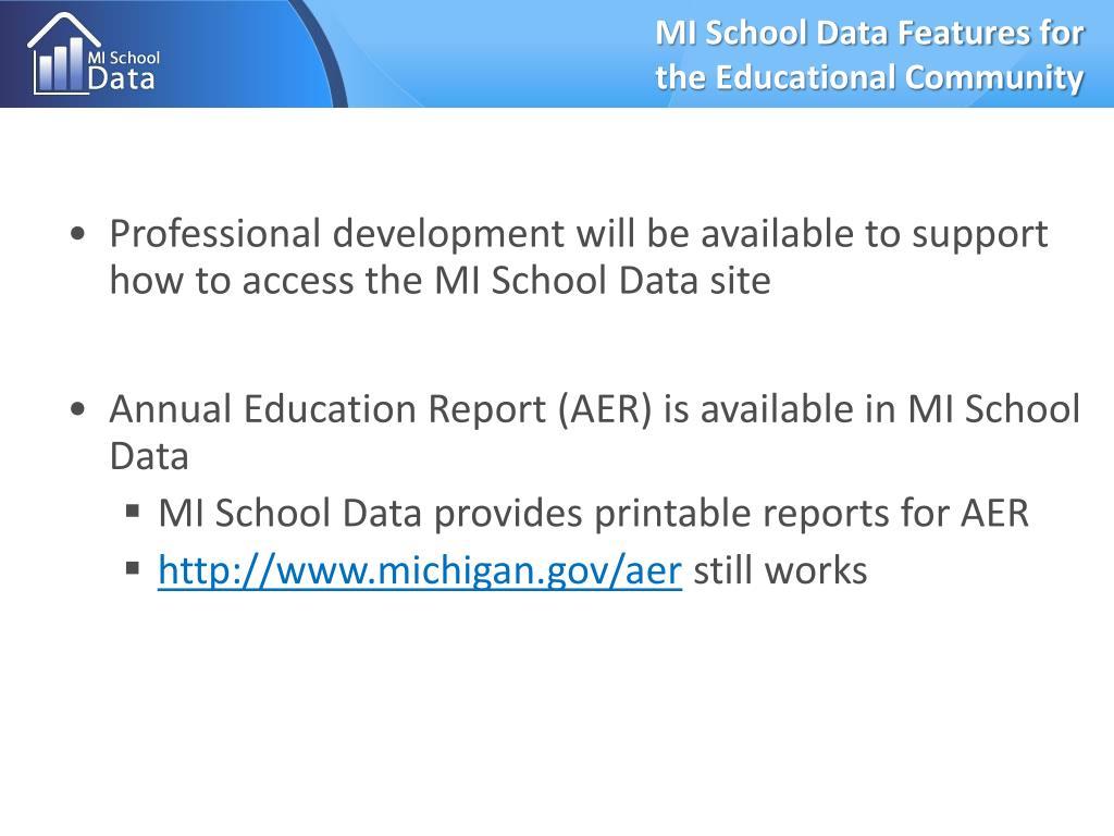 MI School Data Features for