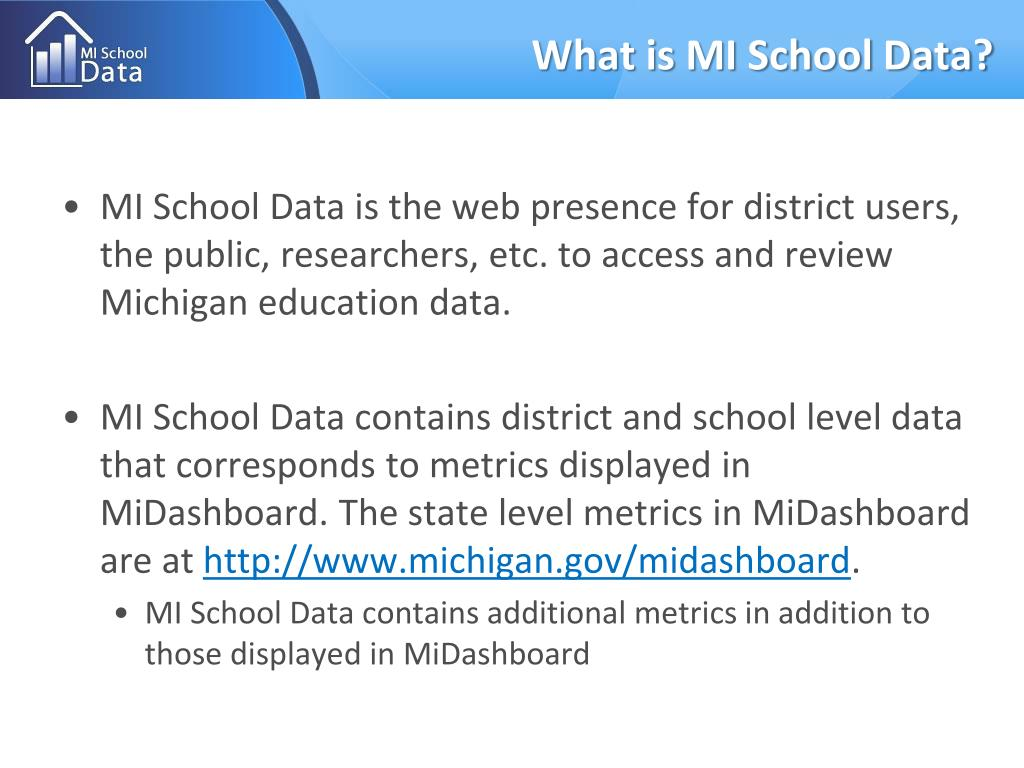 What is MI School Data?