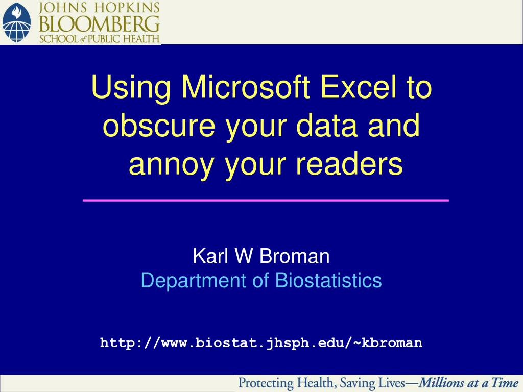 Using Microsoft Excel to obscure your data and