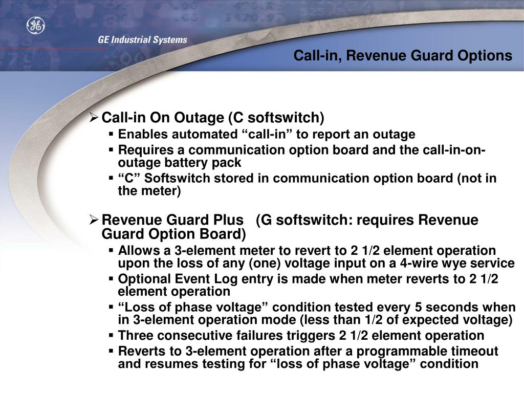 Call-in, Revenue Guard Options