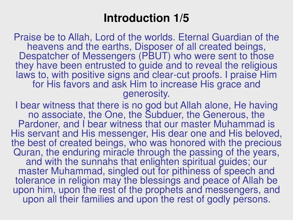 Introduction 1/5