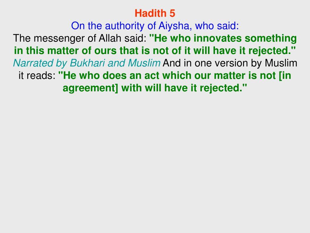 Hadith 5