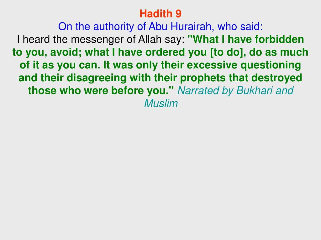 Hadith 9