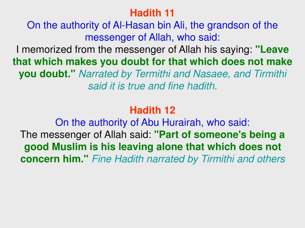 Hadith 11