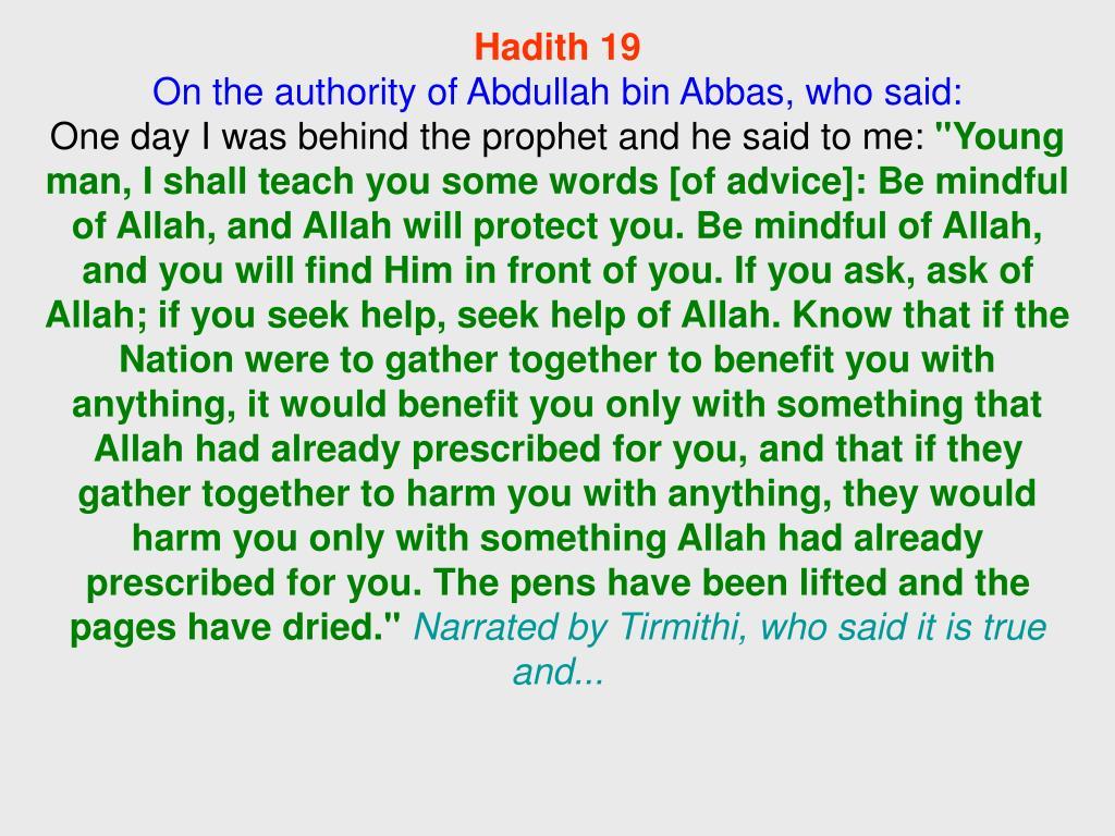 Hadith 19