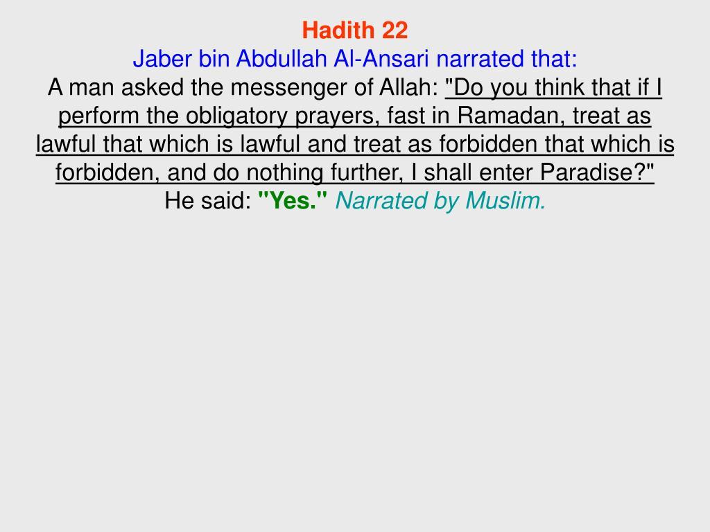 Hadith 22