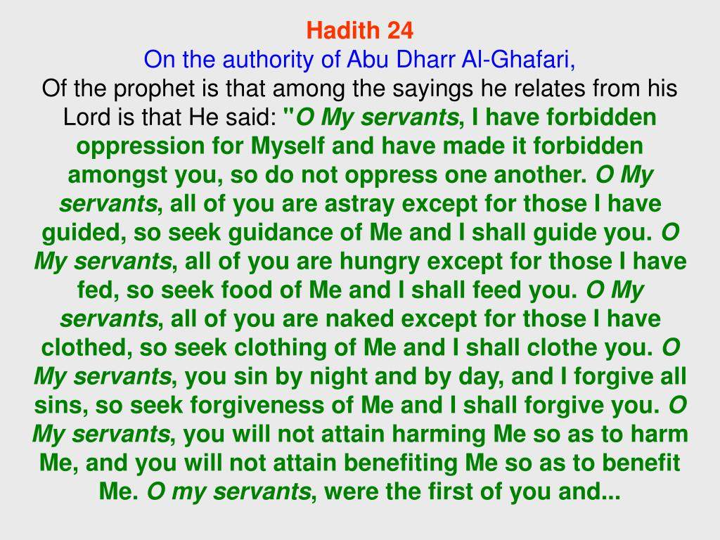 Hadith 24