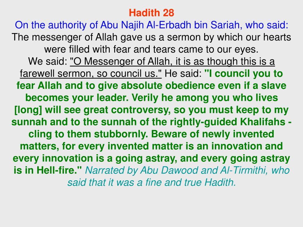 Hadith 28