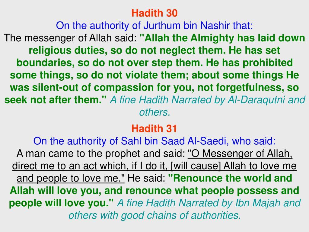 Hadith 30