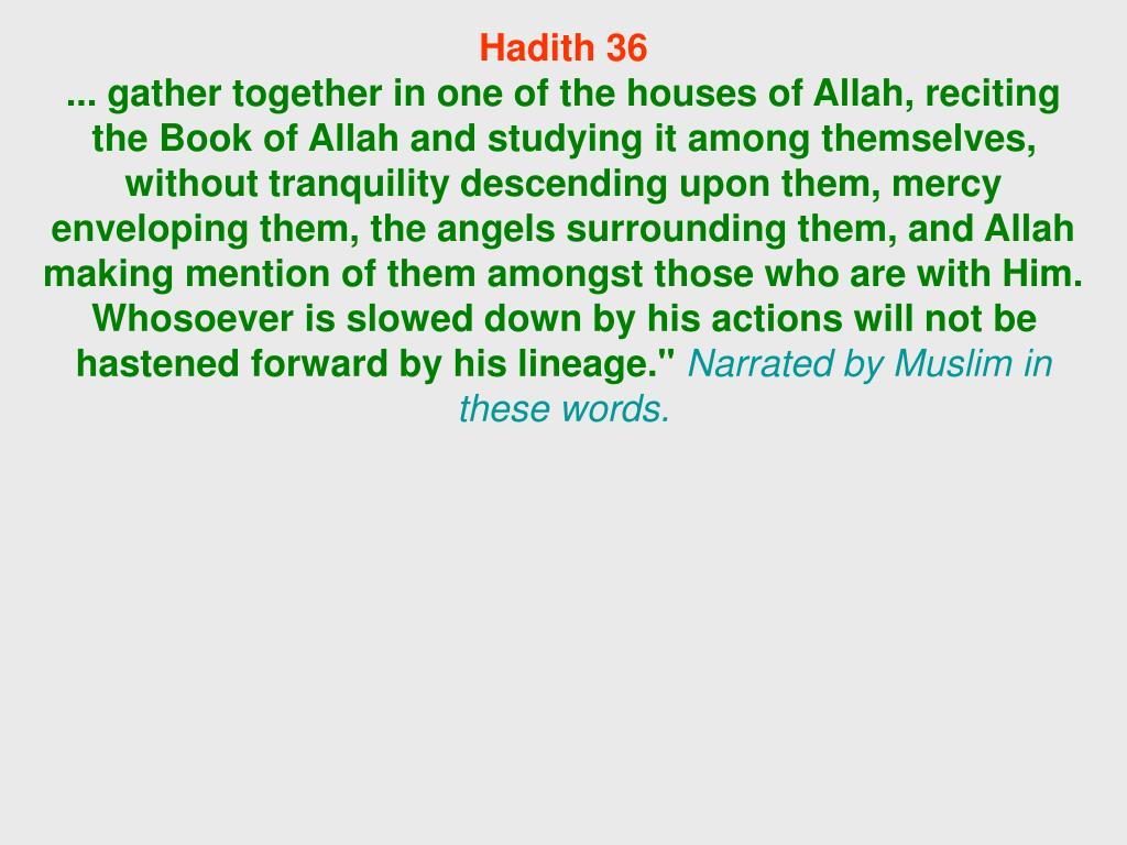 Hadith 36