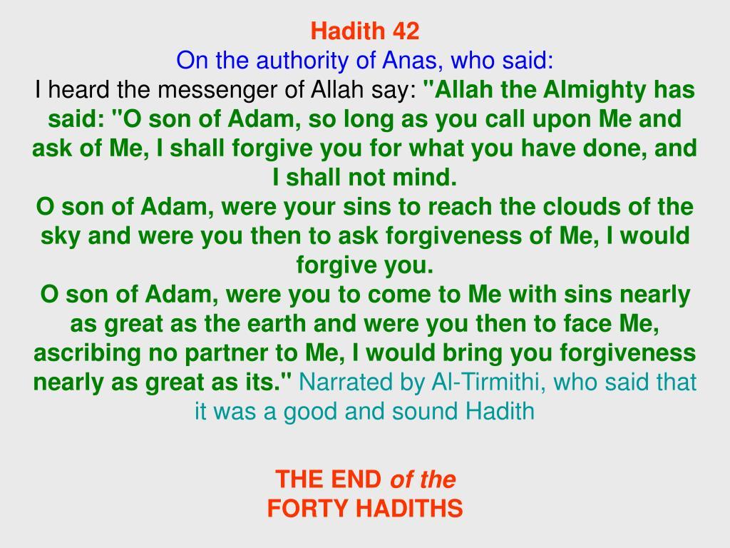 Hadith 42