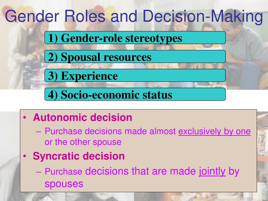 1) Gender-role stereotypes