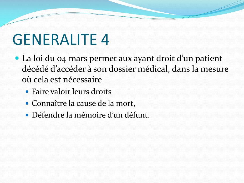 GENERALITE 4