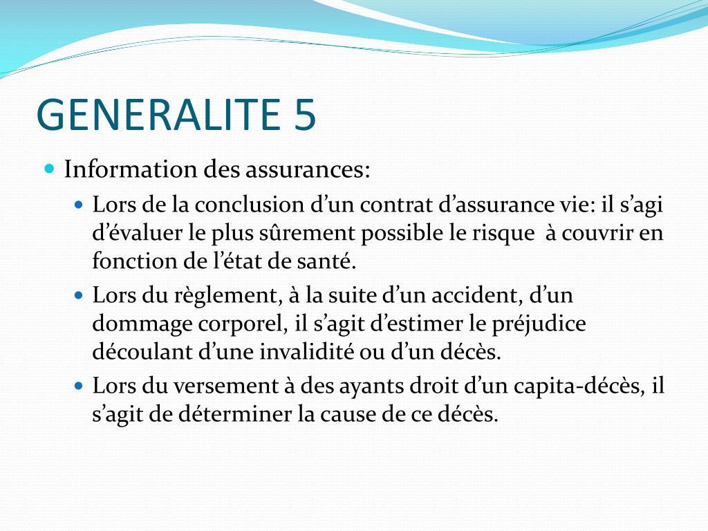 GENERALITE 5