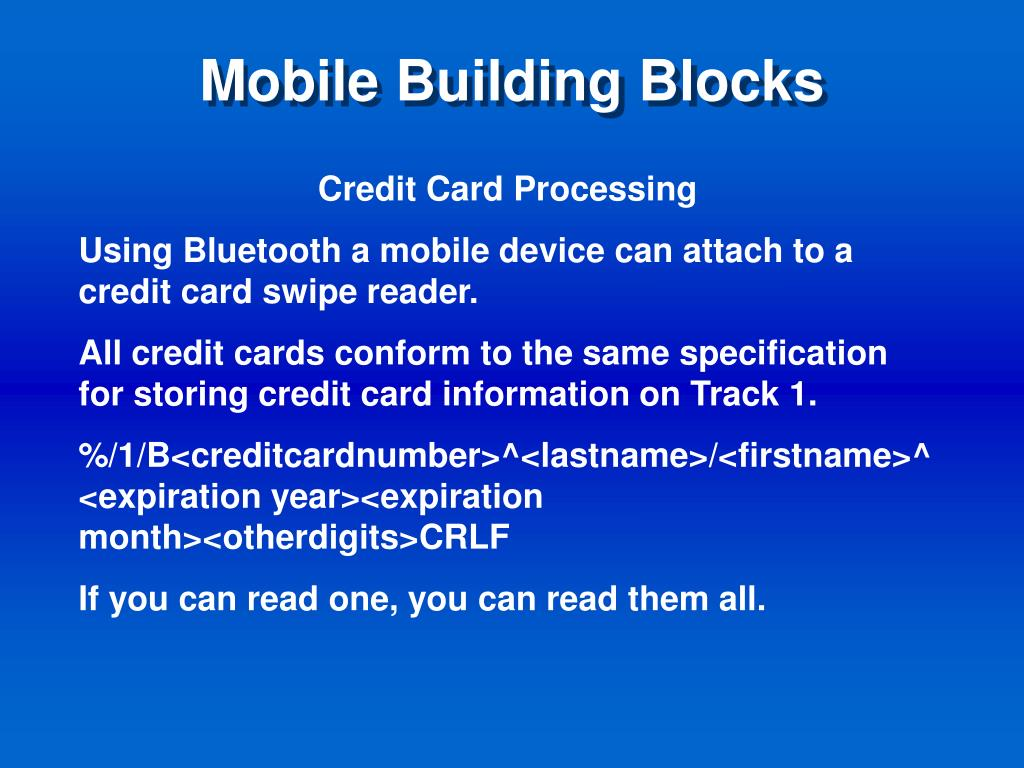 Mobile Building Blocks