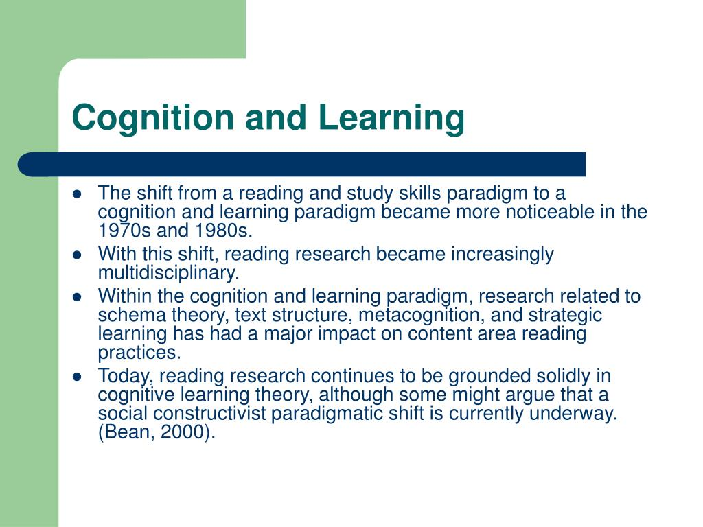 Cognition and Learning