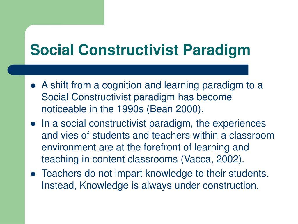 Social Constructivist Paradigm