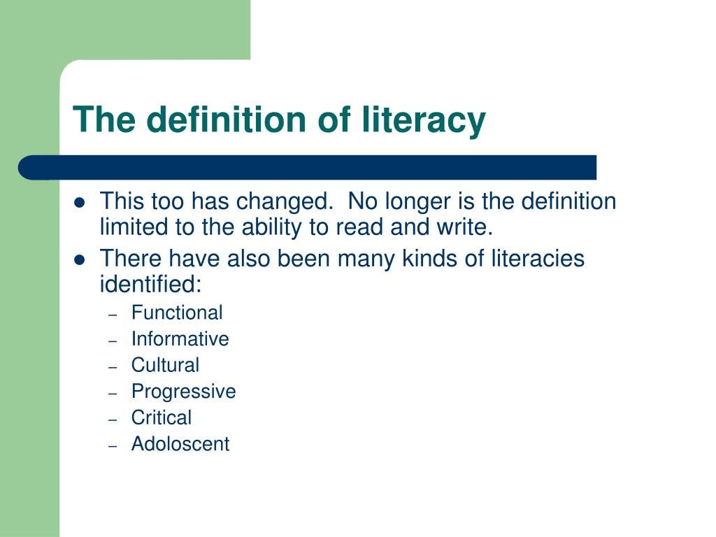 The definition of literacy