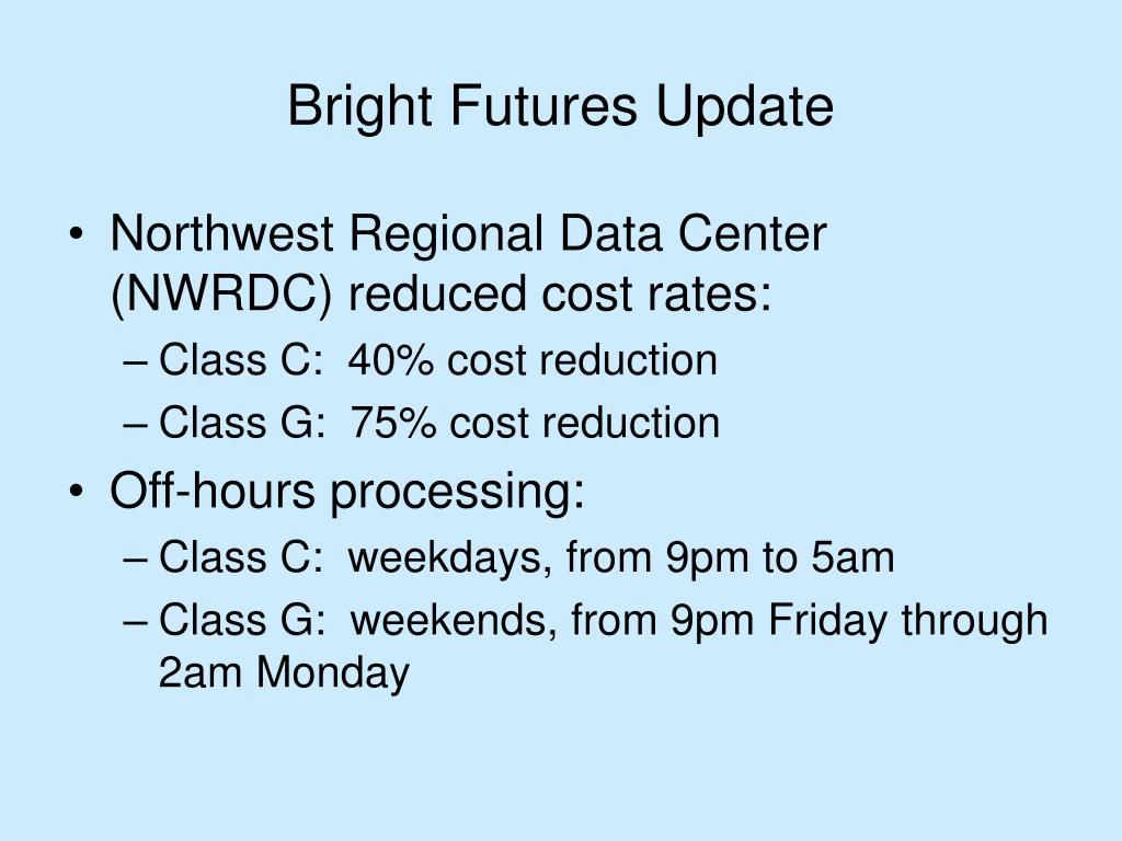 Bright Futures Update