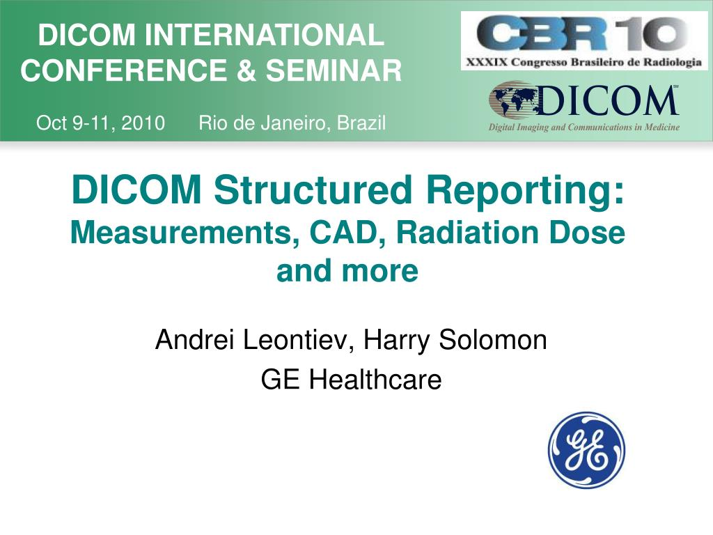 DICOM Structured Reporting: