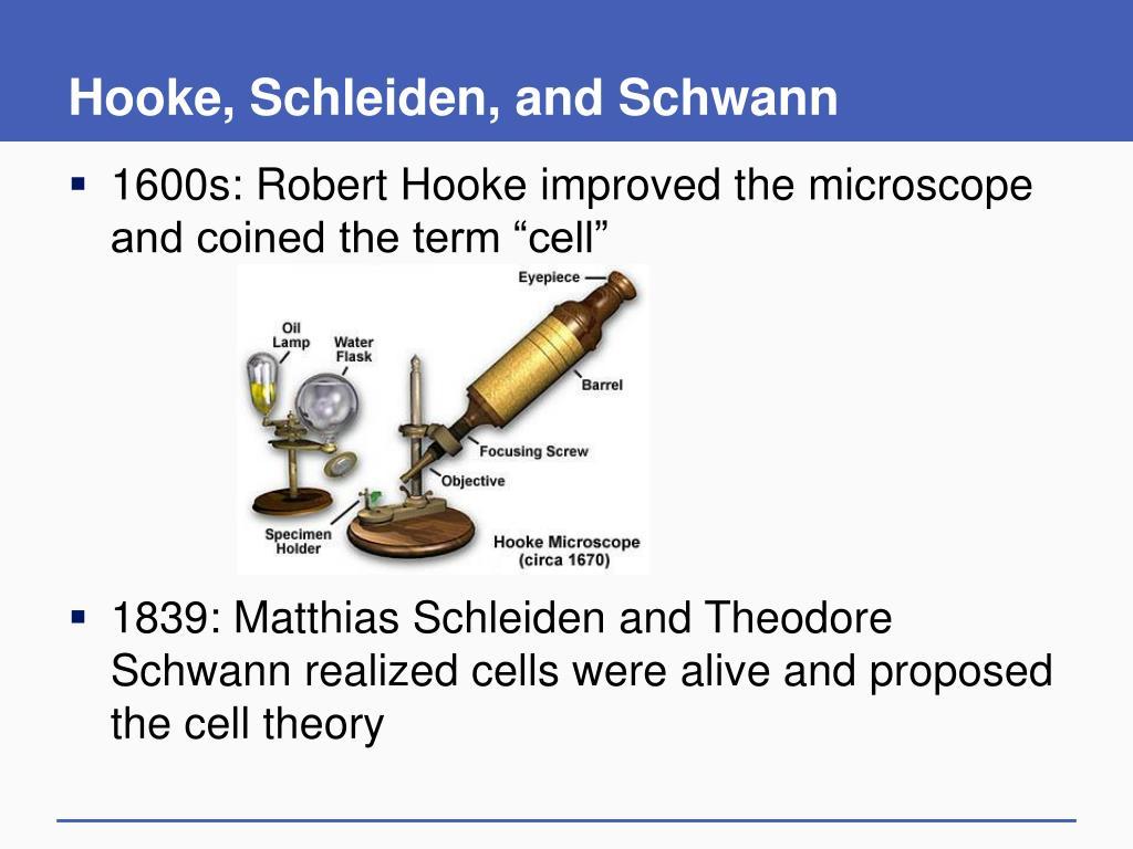 Hooke, Schleiden, and Schwann