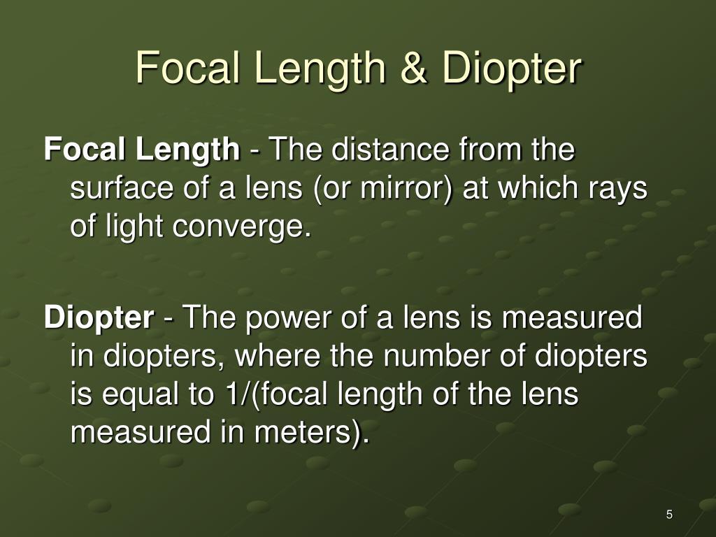 Focal Length & Diopter