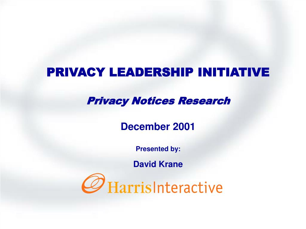 PRIVACY LEADERSHIP INITIATIVE
