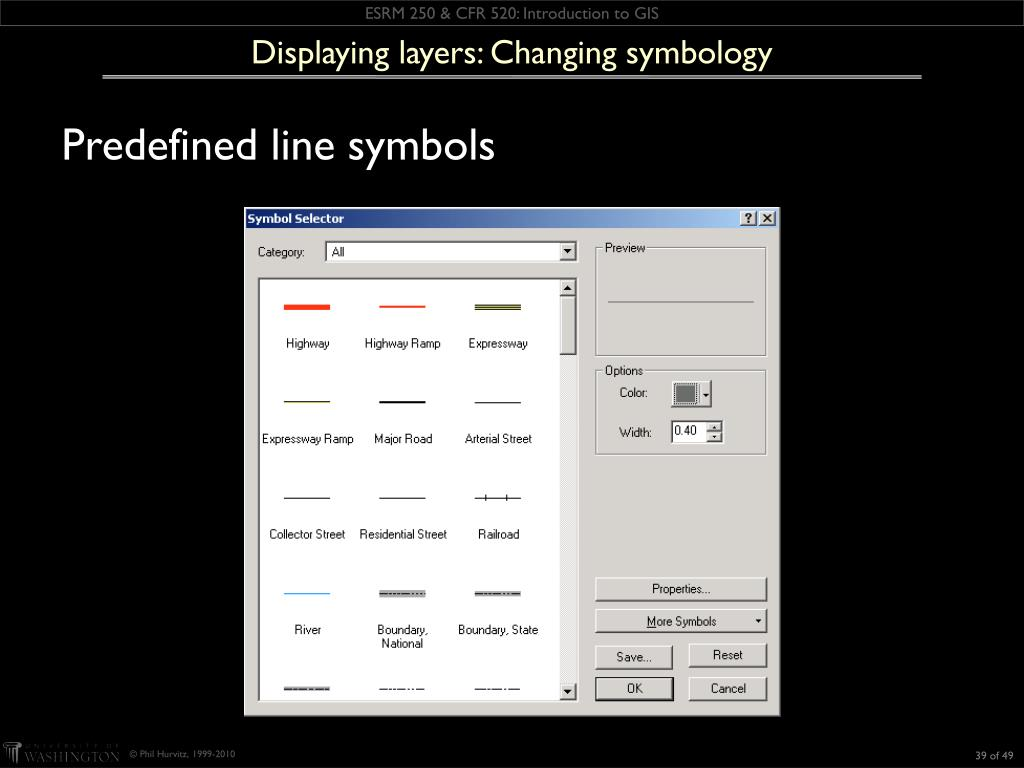 Displaying layers: Changing symbology