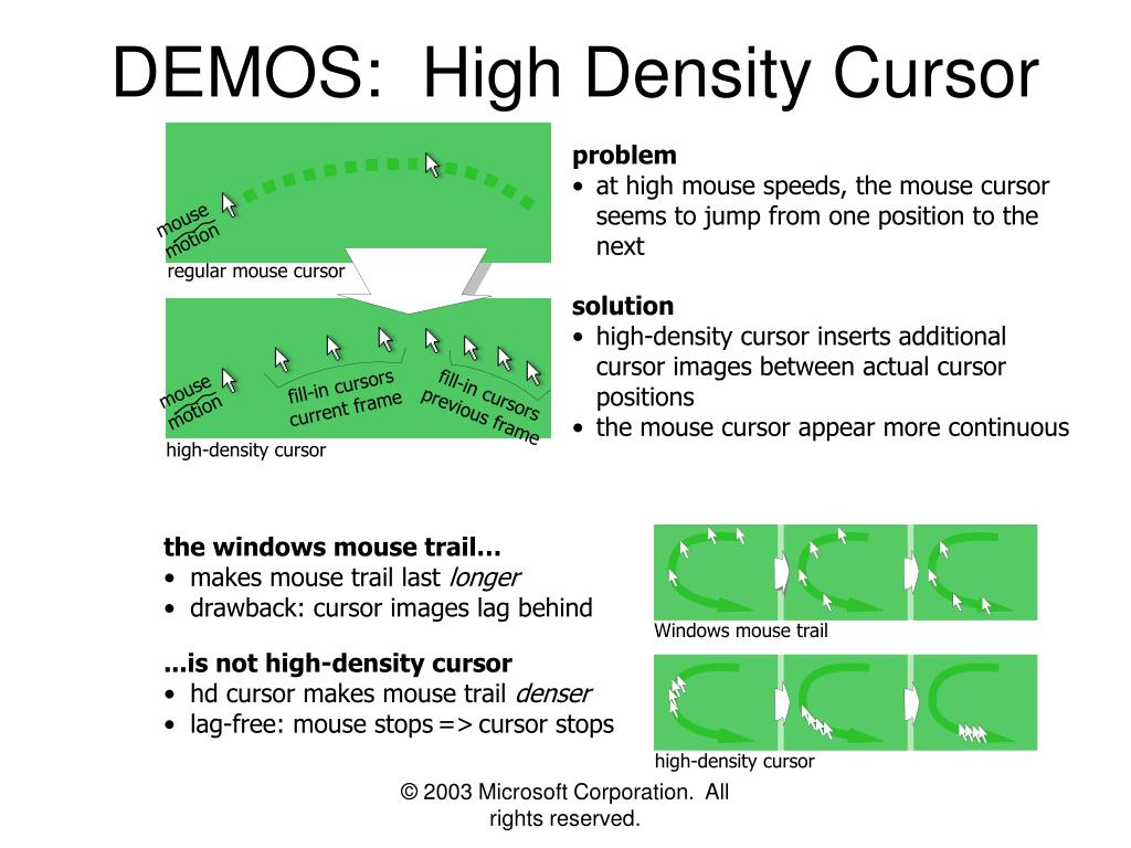 DEMOS:  High Density Cursor