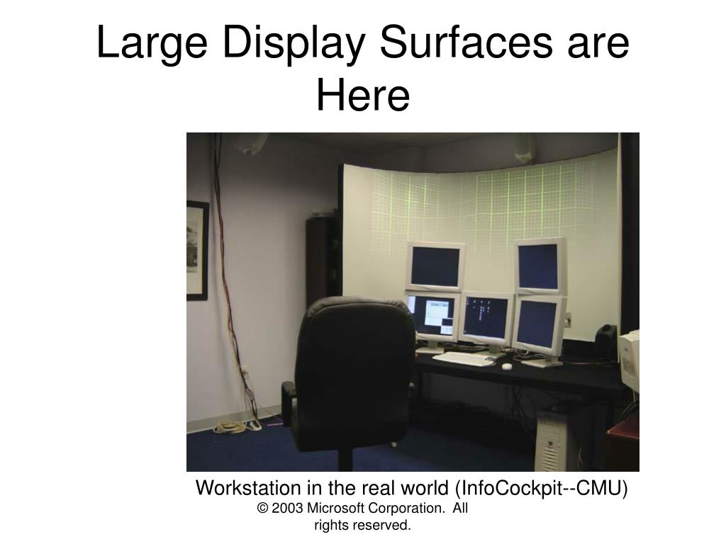 Large Display Surfaces are Here