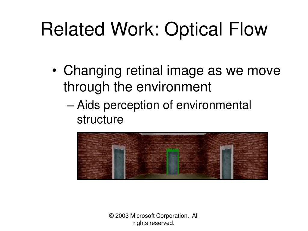 Related Work: Optical Flow