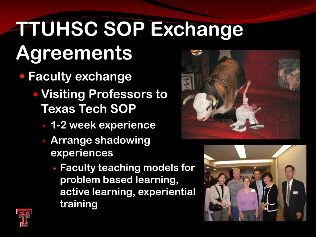 TTUHSC SOP Exchange Agreements
