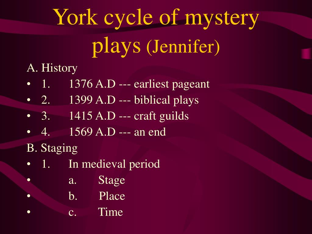 York cycle of mystery plays