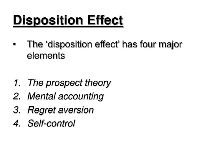 Disposition effect