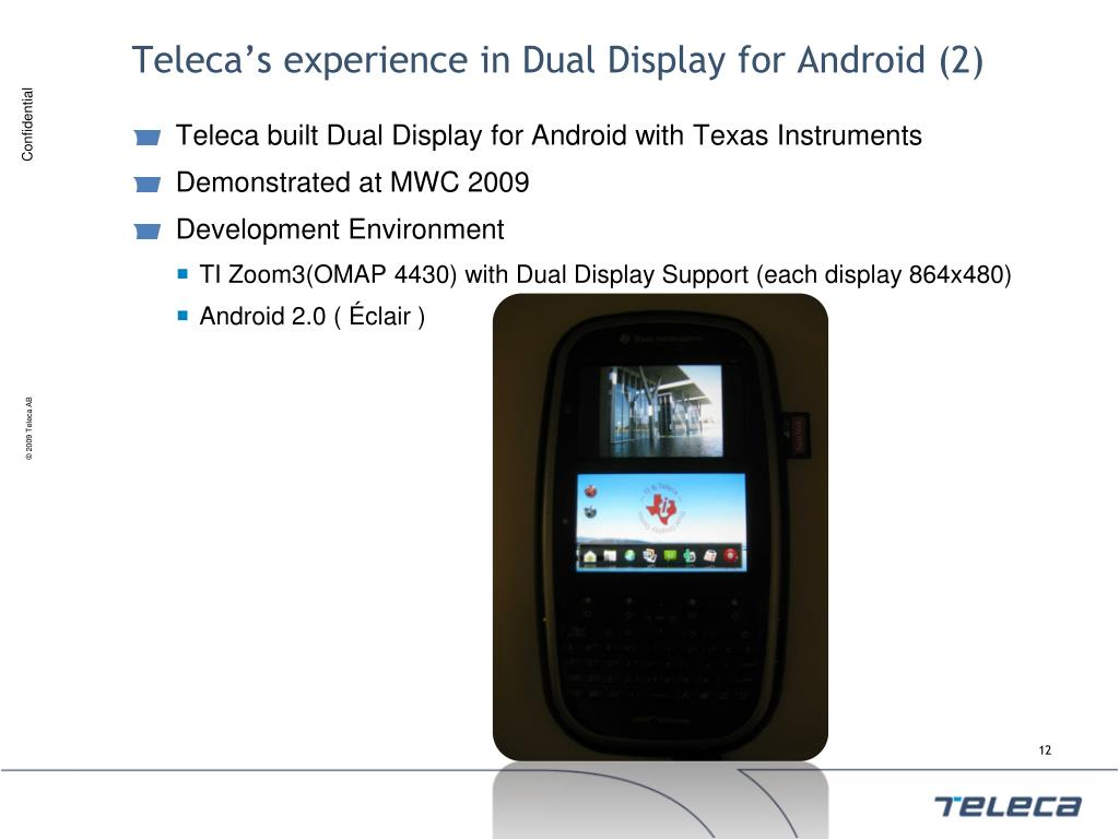 Teleca's experience in Dual Display for Android (2)