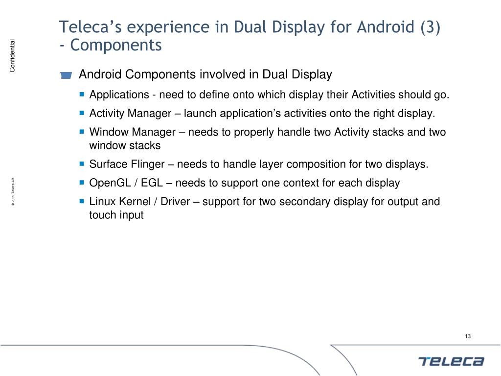Teleca's experience in Dual Display for Android (3)
