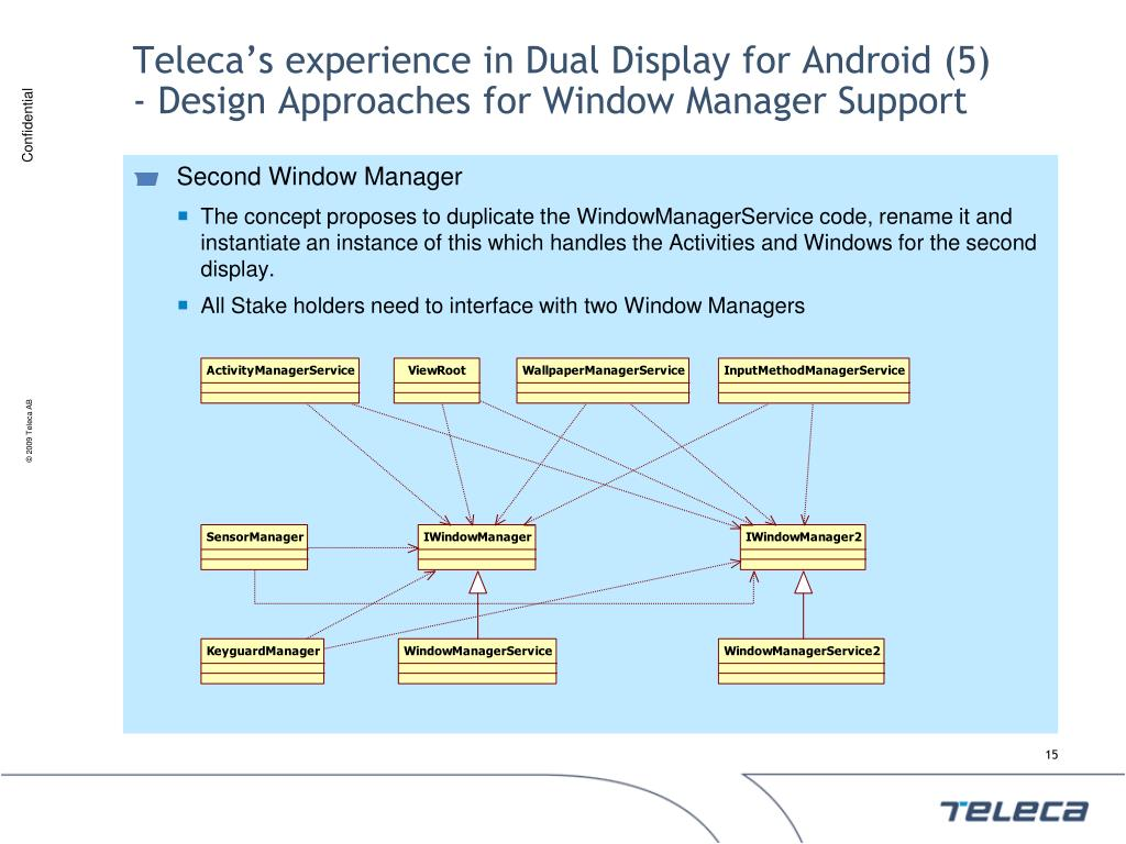 Teleca's experience in Dual Display for Android (5)
