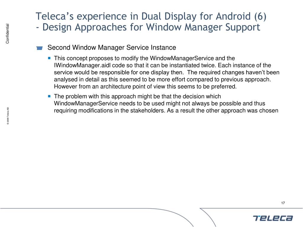 Teleca's experience in Dual Display for Android (6)