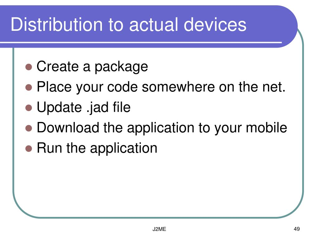Distribution to actual devices