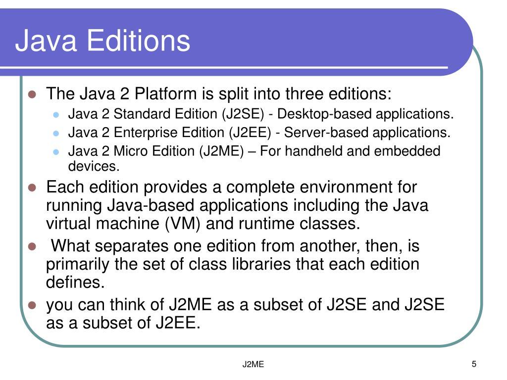 Java Editions