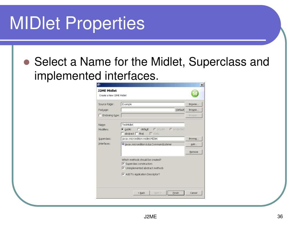MIDlet Properties