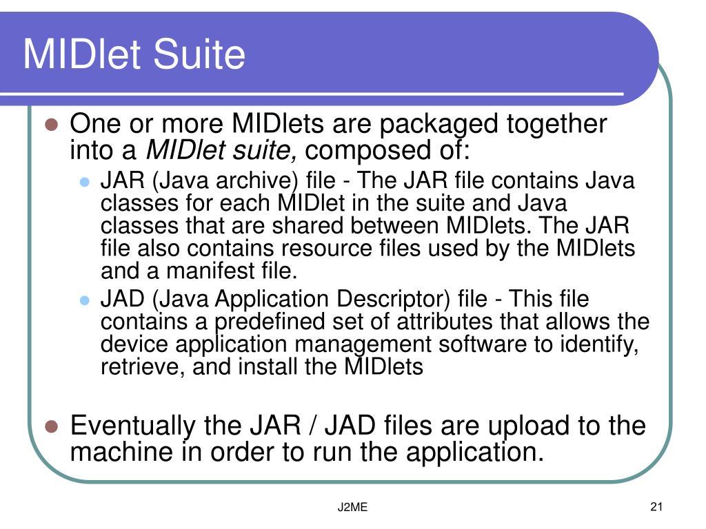 MIDlet Suite