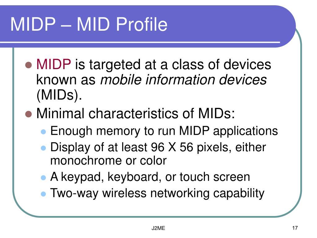 MIDP – MID Profile