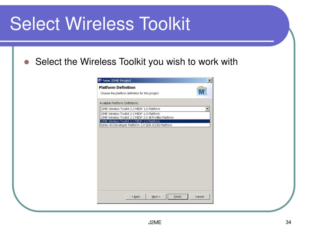 Select Wireless Toolkit