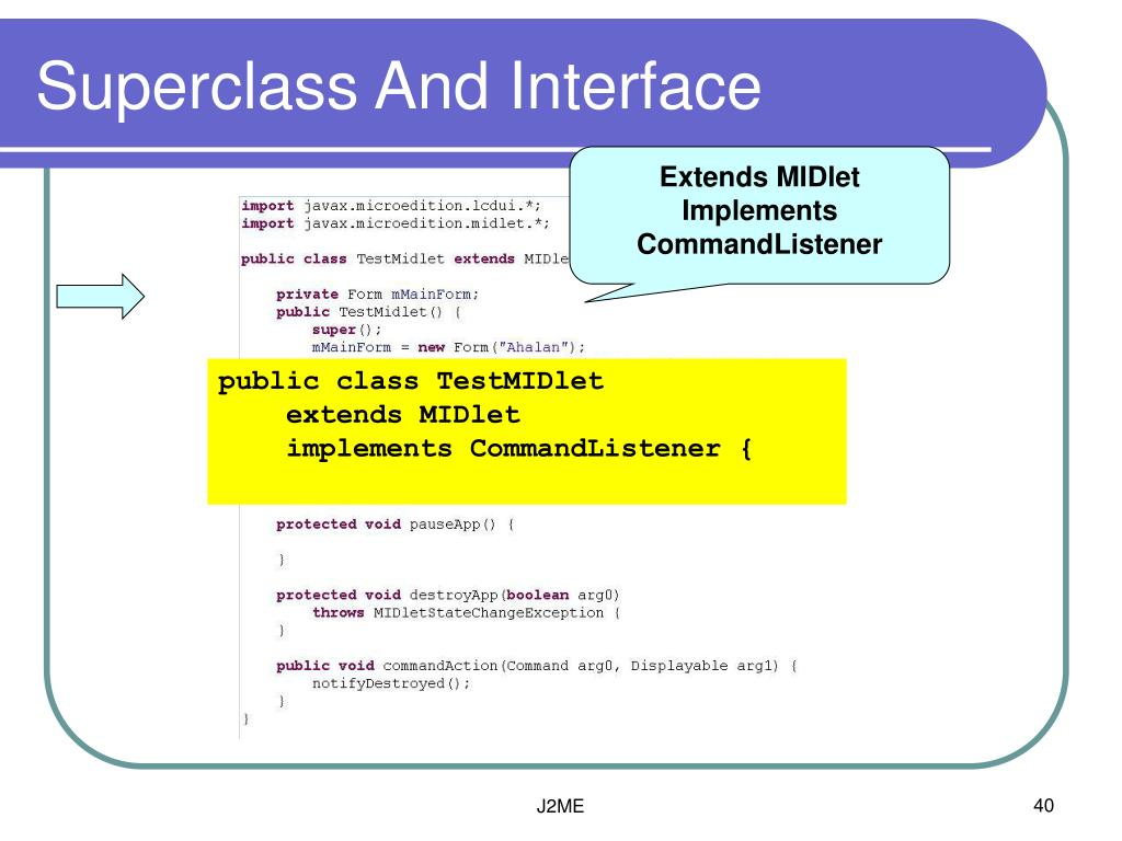 Superclass And Interface