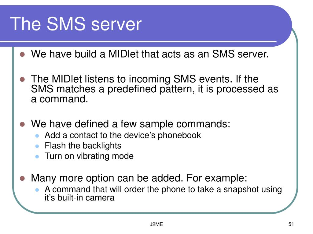 The SMS server
